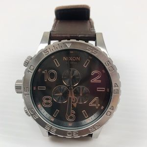 Nixon 51-30 Simplify Chrono Leather Band Watch